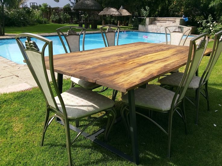 1.25m x 2.05m reclaimed sleeper wood, with a metal frame, industrial design #blackspiermadeit