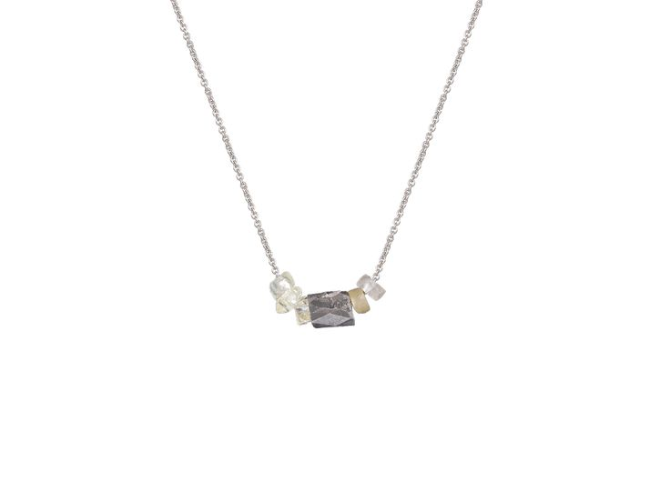 Olly and Rose Cigar Diamond & Unpolished Diamond Necklace