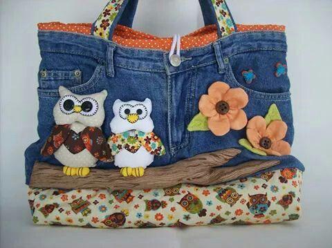 Bolsa jeans #handmade #mariacerejaartes #bolsa #moda #acessorios