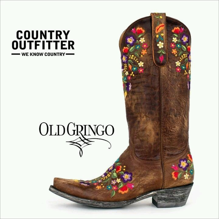 Cowgirl Boots With Flowers - Yu Boots