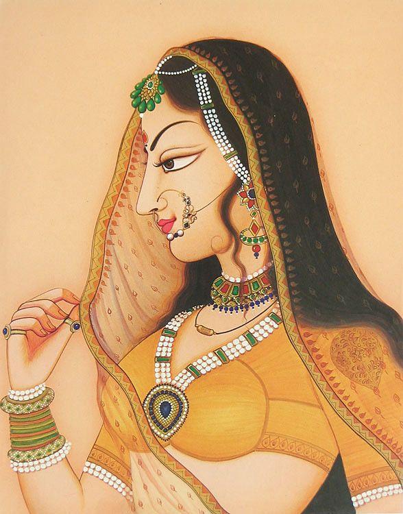 Rajput Princess (Reprint on Paper - Unframed)