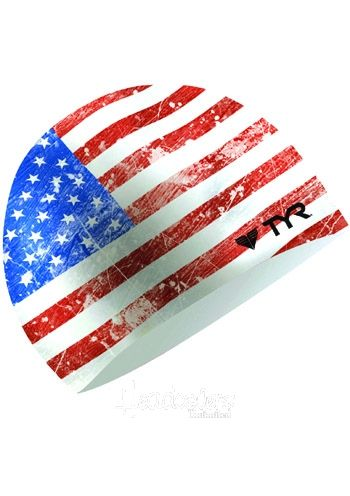 Old Glory Silicone Swim Cap