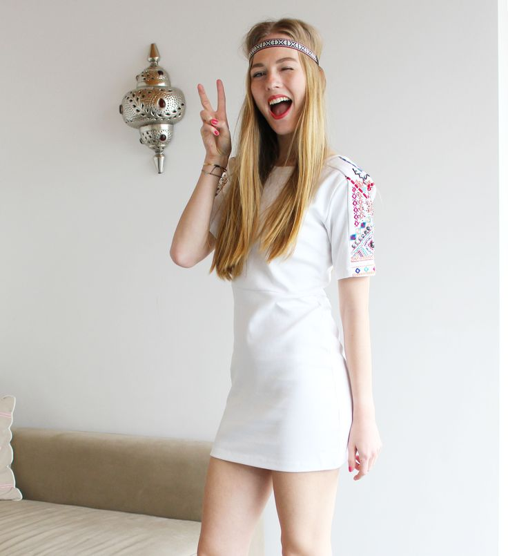 festival, party, ibiza, hawaii, bali, peace, clothing, dress, white, cotton, loved, b-loved, b.loved, jurk, clothes