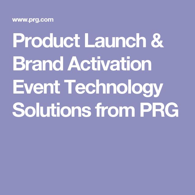 Product Launch & Brand Activation Event Technology Solutions from PRG