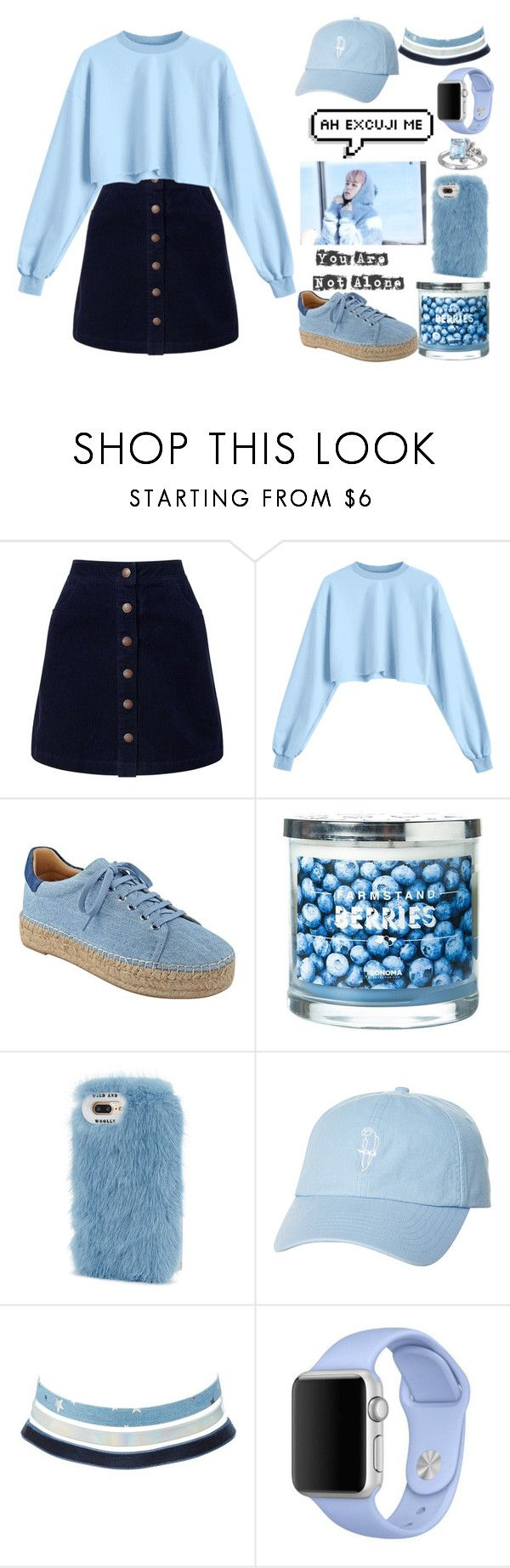 """bts Jimin style girl"" by laysa-de-oliveira-leite on Polyvore featuring Miss Selfridge, Marc Fisher LTD, SONOMA Goods for Life, Wild & Woolly, Rip Curl, Charlotte Russe, Apple and Laura Ashley"