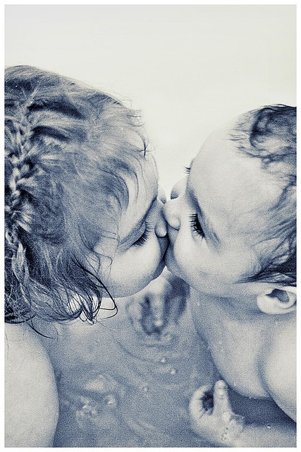 """How """"precious"""" is this?  So..when did you get your """"first"""" kiss from a boy?  Pretty early, in life, actually! lol"""