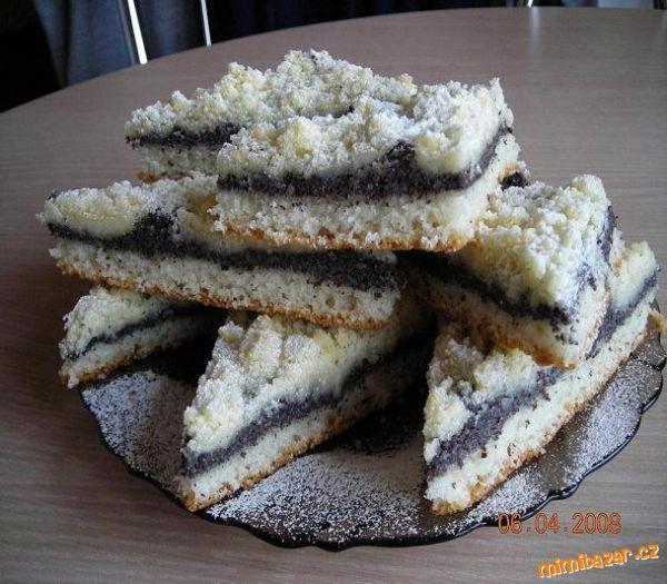 Pohádkový makový koláč velice jednoduchý výborný a nekynutý