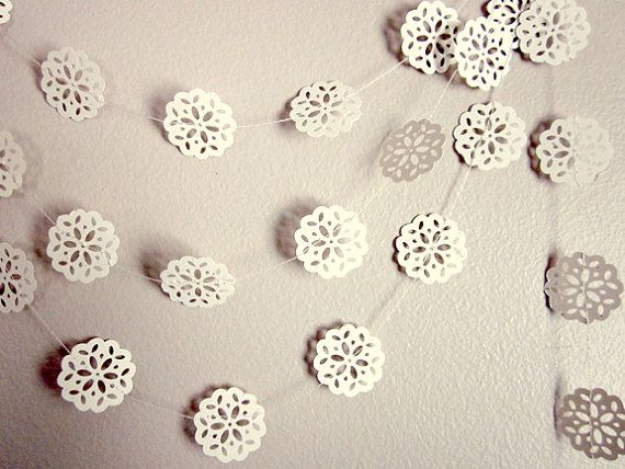 Paper doily garland :)