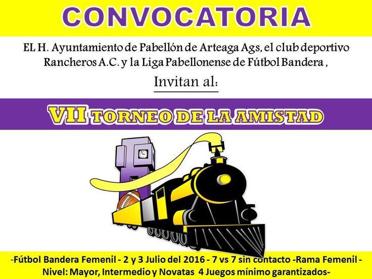 Martes 7 de junio 2016 El club Rancheras de Pabellón de Arteaga por séptimo año consecutivo, estará realizando su torneo de tochito...