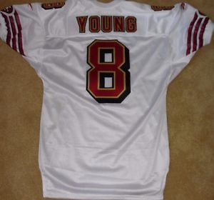 SAN FRANCISCO 49ERS STEVE YOUNG VINTAGE AUTHENTIC 1998 GAME JERSEY TEAM ISSUED!!