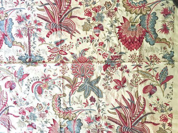Large Fabric Sample Designer Fabric Blue by SouthernLadyEstates