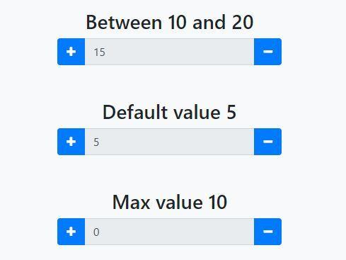 Convenient Spin Box For Number Input - jQuery InputCounter
