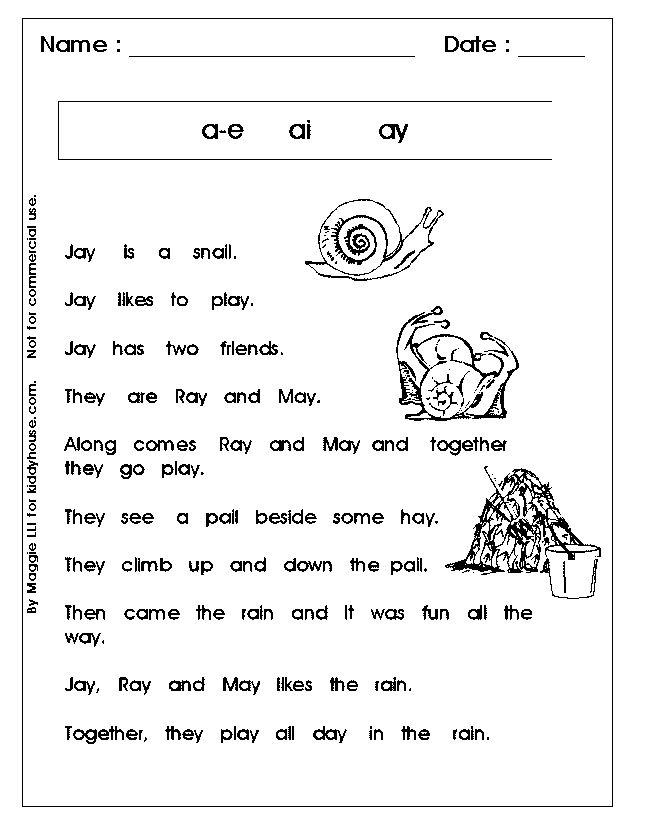 1st Grade Phonics Worksheets – Cute766