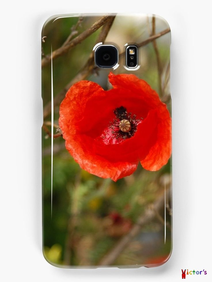 Poppy close-up as Samsung phone case on Redbubble. You can also buy this print as a wall art, home decor, clothing or accessories.