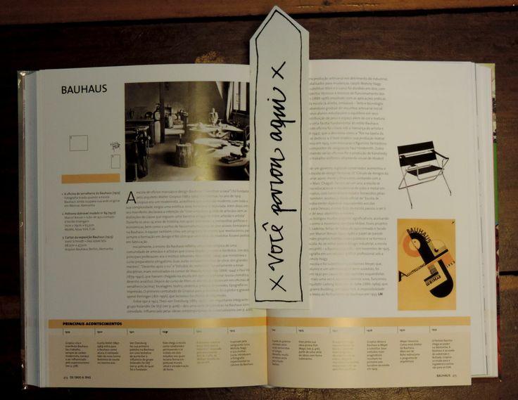 Marcador de página de livro, por Oscar Fortunato