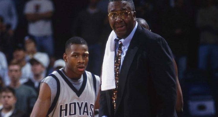 Iverson's mom went to Georgetown in person, and begged the basketball coach, John Thompson, to accept her son.  After doing some research, Thompson was able to offer Iverson a full ride to play for the Georgetown Hoyas.