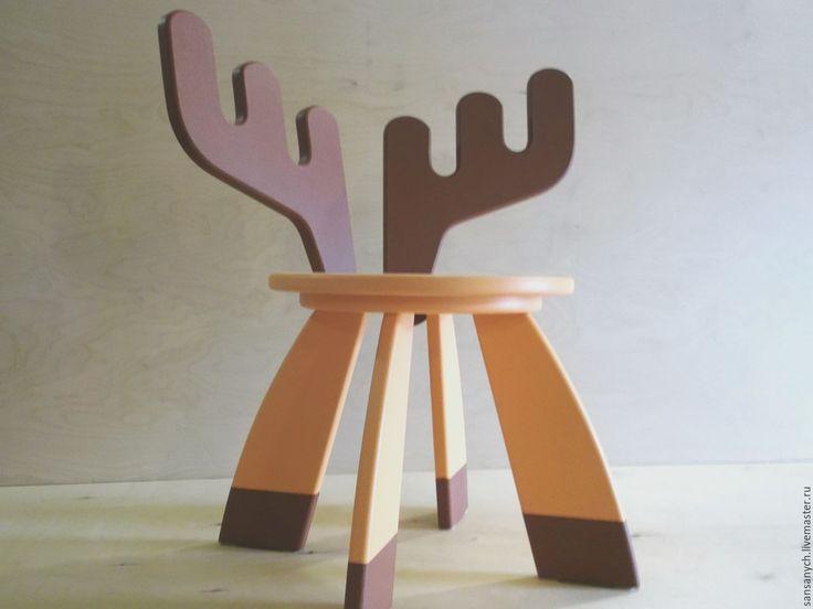 """Купить """"Лосенок"""" детский стульчик, светло-оранжевый - оранжевый, детская мебель, детский стул, лосенок"""