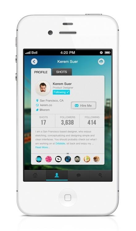 Profile on mobile