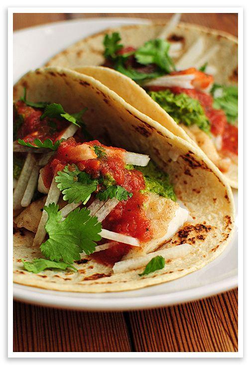 102 best favorite food breakfast lunch dessert images for Fish tacos recipe tilapia
