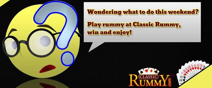 TGIF! The weekend fun just begins with the ‪game‬ of ‪cards‬!  Get together from the luxury of your homes and ‪play‬ your favorite ‪cardgames‬ only at CLASSICRUMMY!  Play, Win & ‪Enjoy‬, the mantra this ‪weekend‬ and the destination is classic ‪rummy‬.  https://www.classicrummy.com/?link_name=CR-12