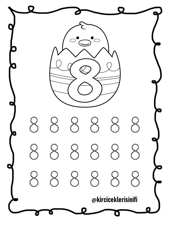 8 Rakamı Sayilar Numbers For Toddlers Education Ve School