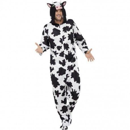 disfraz de vaca adulto este disfraz de vaca se compone de mono con capucha disponible