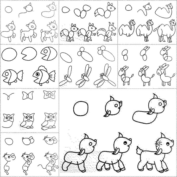 How to Draw Easy Animal Figures in Simple Steps #drawing #kids