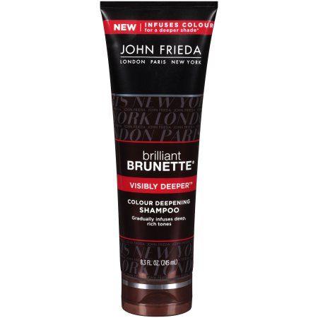 John Frieda Brilliant Brunette Colour Deepening Shampoo, 8.3 Oz