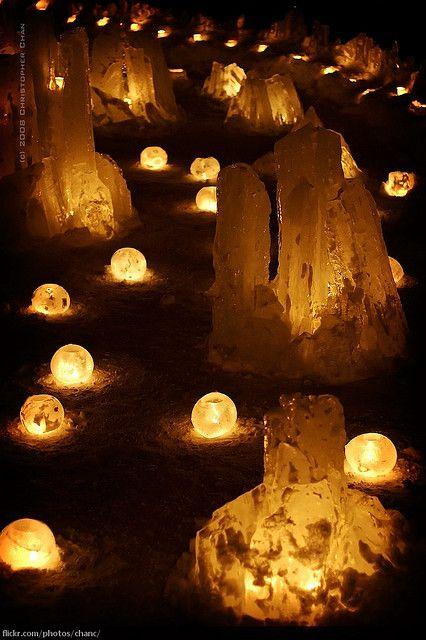 Otaru Snow Gleaming (Snow Lantern) Festival, Hokkaido, Japan