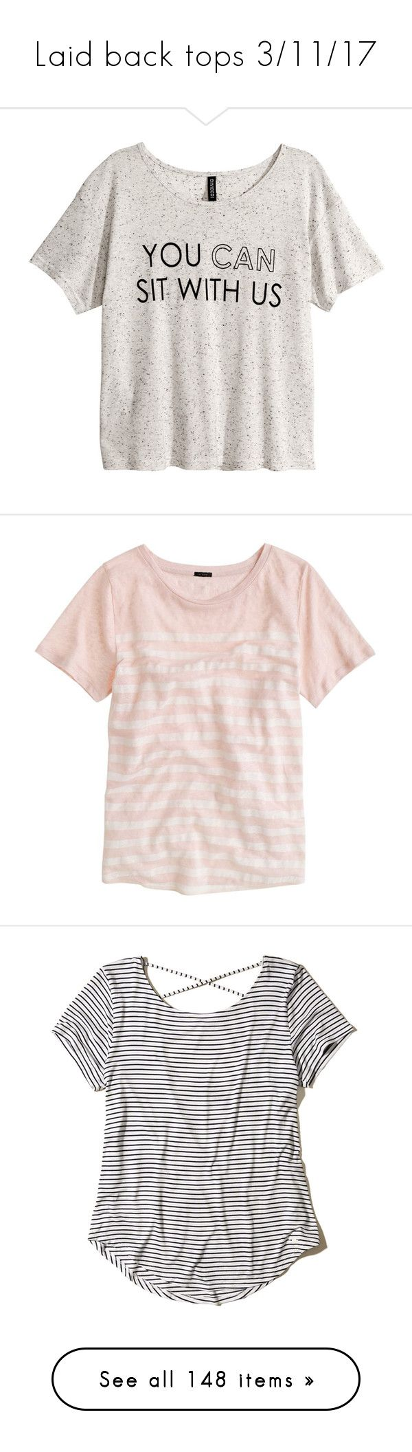 """""""Laid back tops 3/11/17"""" by sparkles-and-salamanders ❤ liked on Polyvore featuring tops, t-shirts, shirts, blusas, grey, short sleeve tops, tee-shirt, short-sleeve button-down shirts, jersey shirt and short sleeve t shirt"""