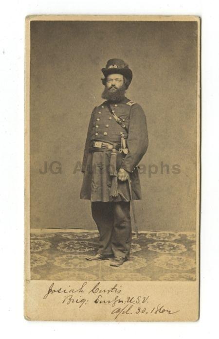 Josiah Curtis - Civil War Medal of Honor Recipient - Original CDV Photograph