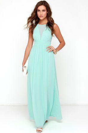 Mint Dress - Maxi Dress - Mint Gown - $48.00