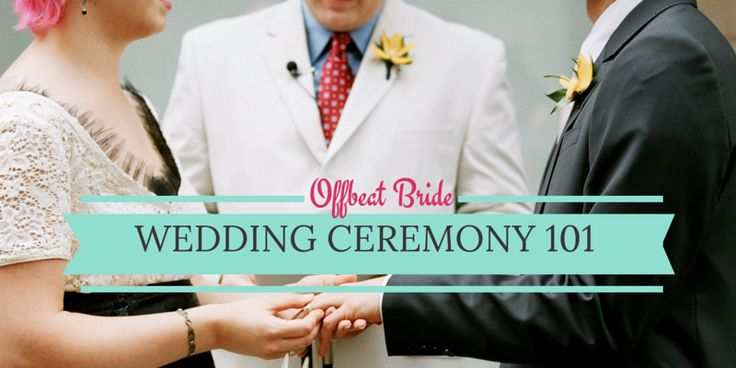 This is basically the best post ever written about how to build a wedding ceremony from the ground up.  While there's a bit of ritual theory, but mostly it's expert advice about how t…