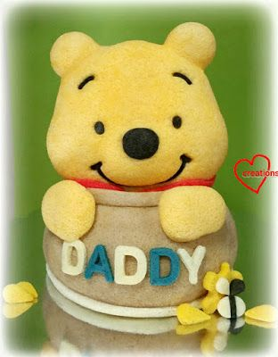 Loving Creations for You: 'Pooh Bear in Hunny Pot' Orange-Chocolate Chiffon ...