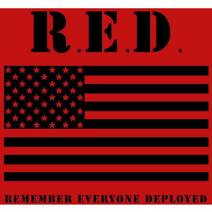 RED Friday Flag Bumper Sticker – USAMM