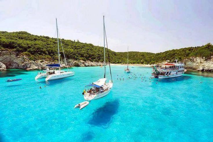 Voutoumi Bay in Antipaxos Island - Greece