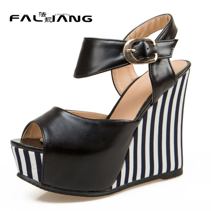 New arrival summer plus size 11 12 13 14 Fashion Sexy Peep Toe womens shoes Rough with Gingham Summer Super High heel sandals