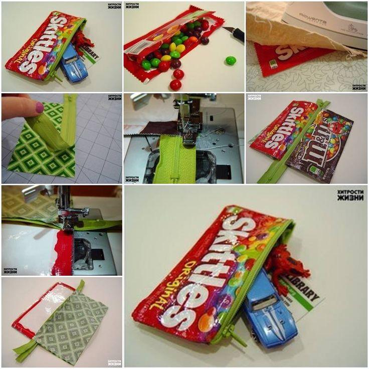 DIY Candy Wrapper Bag Hand Diy Crafts Home Made Easy Craft Idea Ideas