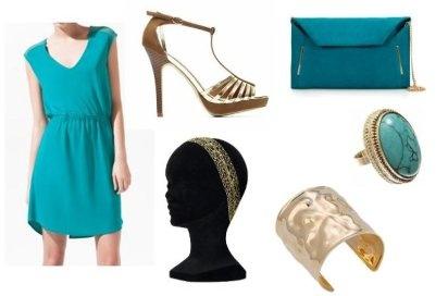 Vestido en color turquesa, cómo combinarlo | Preparar tu boda es facilisimo.com