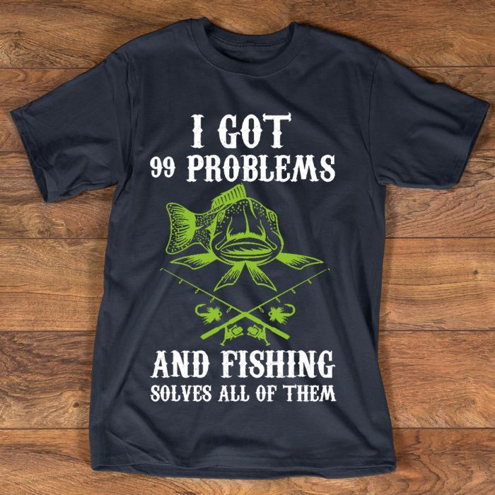 FISHING SOLVES ALL HOODIE T-SHIRT SWEATER