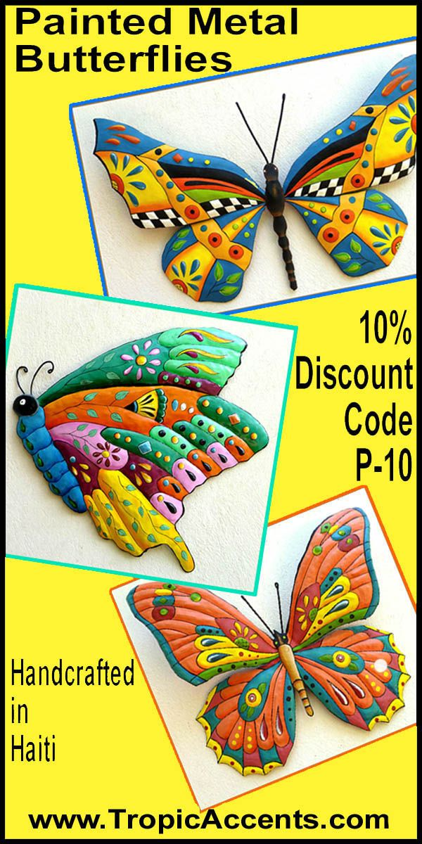 Discount Offer - 10 Discount Butterfly Wall Hangings - Hand Painted