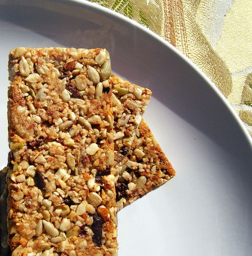 Healthy Homemade Granola Bars!  (Sugar & Grain Free)  I'm going to try these!  (I'll change a couple things around as I usually do with most new recipes I review, but get the basic jist of it, a healthy version of a once beloved treat I miss.)