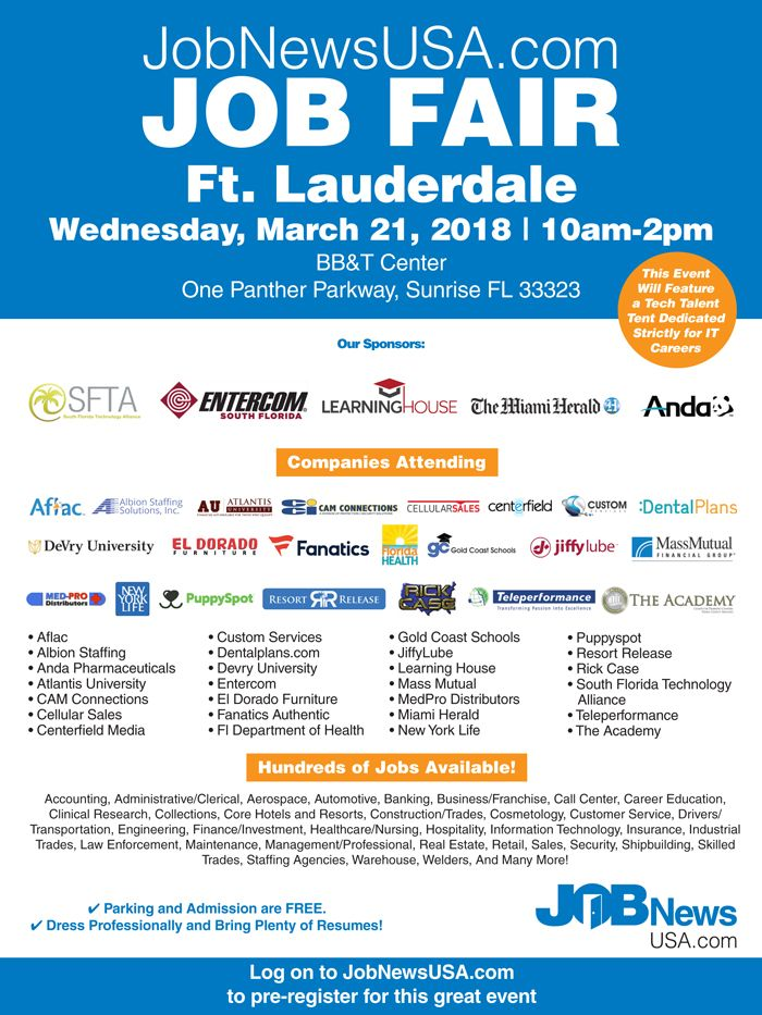 Jobnewsusa Com South Florida Job Fair Jobs In Florida Job Fair