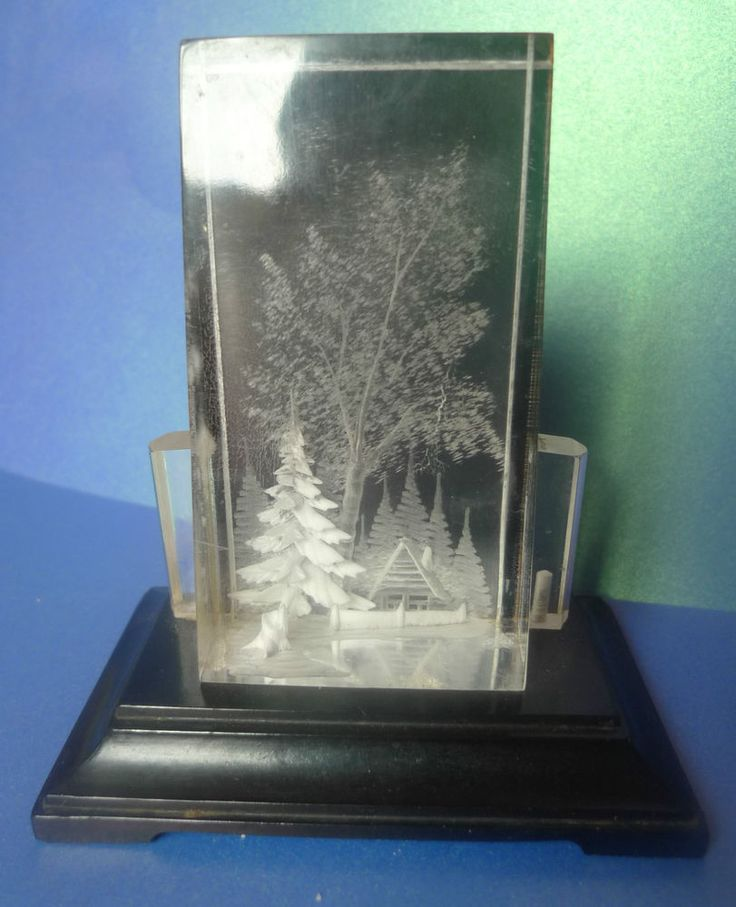 Vintage Russian USSR Soviet Decor Table Plaque Souvenir Plexiglass 3D marked