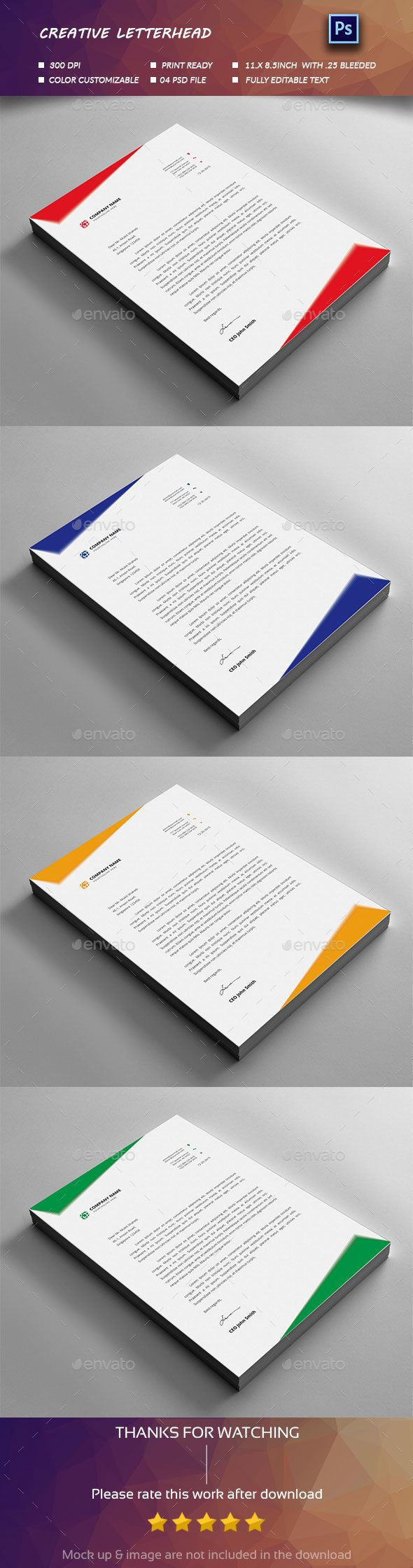Letterhead Design Stationery Print Templates Download