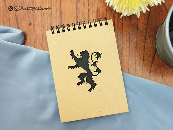 Game of Thrones Notebook   House Lannister Spiral Notepad