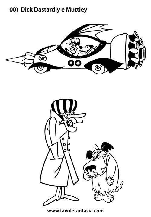wacky races coloring pages - photo #1
