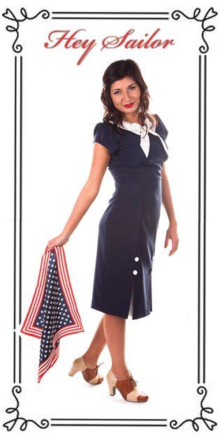 Hey Sailor Dress by Raspberry Heels http://www.raspberryheels.com/shop/produkt,en,dresses,dress-hey-sailor-navy.html