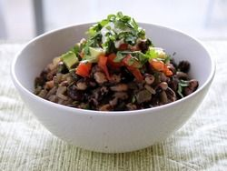Black Nightfall Beans With Red Chili Pods, Tomatoes, and Avocado From 'The New Vegetarian Cooking for Everyone' | Serious Eats : Recipes