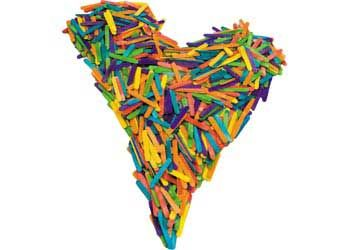 Paddle Pop Sticks Multicoloured 66mm 1000pce